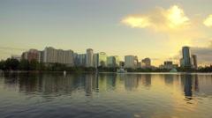 Lake Eola, Downtown Orlando Stock Footage