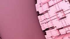 Fractal pink abstract 3D background Stock Footage