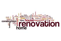 Renovation word cloud Stock Illustration