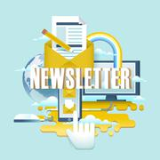 Newsletter concept design Stock Illustration