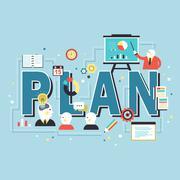 Plan concept design Stock Illustration