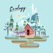 Ecology concept design Stock Illustration