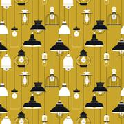 Ceiling lamp seamless pattern Stock Illustration