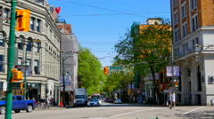 4K Vancouver British Columbia Canada, Downtown Street Traffic, Cityscape Stock Footage
