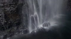 Drone Aerial shot Ascending Up The Face Of A Beautiful Waterfall Stock Footage