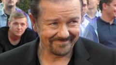 Ricky Gervais at the UK David Brent Premiere Stock Footage