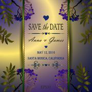 Vector wedding invitation with the rowan Stock Illustration