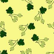 Gooseberry seamless pattern Stock Illustration