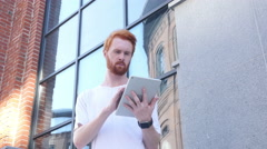 Using Tablet for Browsing, Outdoor Stock Footage