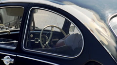 Old VW car Black Stock Footage