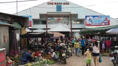 View of Rach Dua market Stock Footage