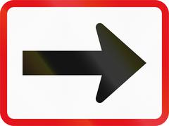 Road sign used in the African country of Botswana - The primary sign applies  Stock Illustration