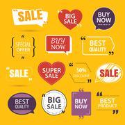 Collection of premium promo sale stickers. Stock Illustration