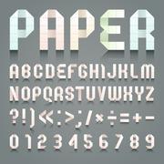 Alphabet folded of toilet pink paper Stock Illustration