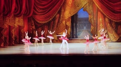 Russia, Novosibirsk, 30 may 2015. Performance of opera and ballet theatre Stock Footage