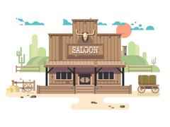 Wild west saloon Stock Illustration