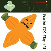 Box cut in the form Pumpkin, for candy on Halloween Stock Illustration