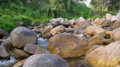 Big rock in canal Stock Footage