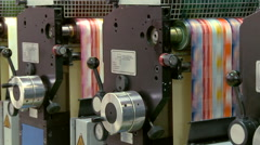 Printing plant production process. Stock Footage