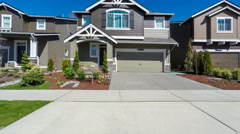 American suburban neighborhood Stock Footage