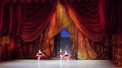 Russia, Novosibirsk, 30 may 2015. Dancers performing of opera and ballet theatre Stock Footage