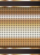 Background template, copper metallic texture Stock Illustration