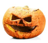 Rotten and angry pumpkin lantern jack Stock Photos