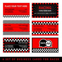 Business card driver race - fifth set Stock Illustration