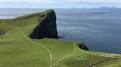 4K UltraHD View at Neist Point in Skye, Scotland Stock Footage