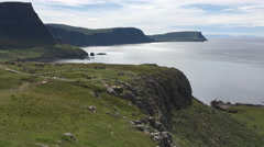 4K UltraHD View from Neist Point, Isle of Skye, Scotland Stock Footage
