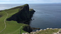 4K UltraHD View of Neist Point, Isle of Skye, Scotland Stock Footage