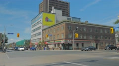 Bloor Spadina Intersection The Annex Billboard Stock Footage