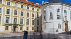 Chapel of the Holly Cross in Prague castle timelapse Stock Footage