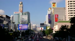 TIMELAPSE Busy road at Central World,Bangkok,Thailand Stock Footage