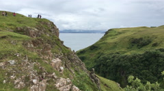 4K UltraHD Clifftop view from the Isle of Skye Stock Footage
