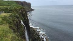 4K UltraHD Waterfall into sea, Isle of Skye, Scotland Stock Footage