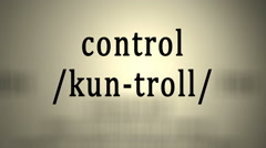 Definition: Control Stock Footage