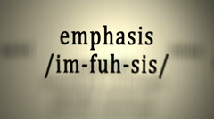 Definition: Emphasis Stock Footage