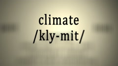 Definition: Climate Stock Footage