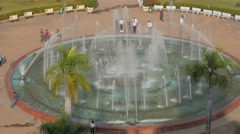 Patuxai park fountain from above,Vientiane,Laos Stock Footage