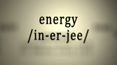 Definition: Energy Stock Footage