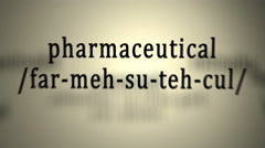 Definition: Pharmaceutical Stock Footage