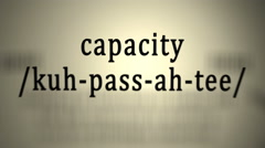 Definition: Capacity Stock Footage