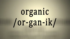 Definition: Organic Stock Footage