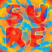 Surf t shirt typography graphics Stock Illustration