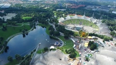 The German Stadium and Park. Stock Footage