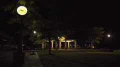 Pavilion at Night Stock Footage