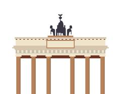 Brandenburg gate icon Stock Illustration