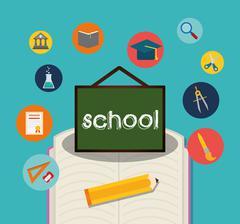 Back to school icon set design Piirros