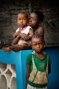 Africa, Sierra leone, the small village of Mabendo Stock Photos